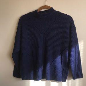 Blue JustFab long sleeve sweater